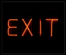 Exit Neon Sign 1